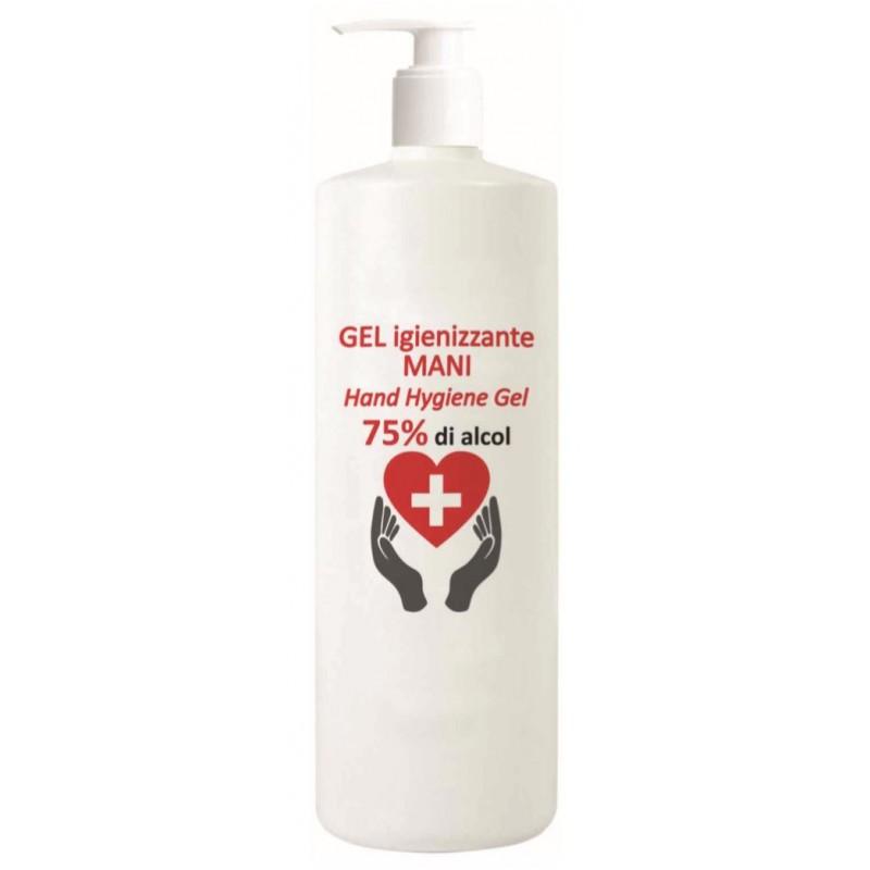 Desinfecterende handgel 75% alcohol 1000ml, glycerine garandeert een zacht hydraterend effect.